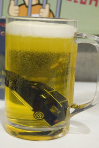 car in beer